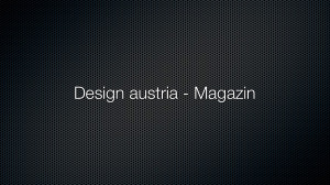 Design austria – Magazin