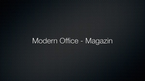 Modern Office – Magazin