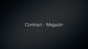 Contract – Magazin